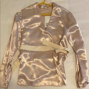 ACNE shimmery pink top